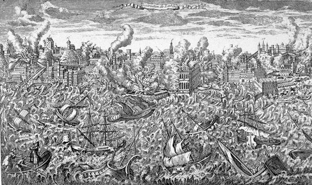 Lisbon earthquake of 1755. Wikimedia Commons.