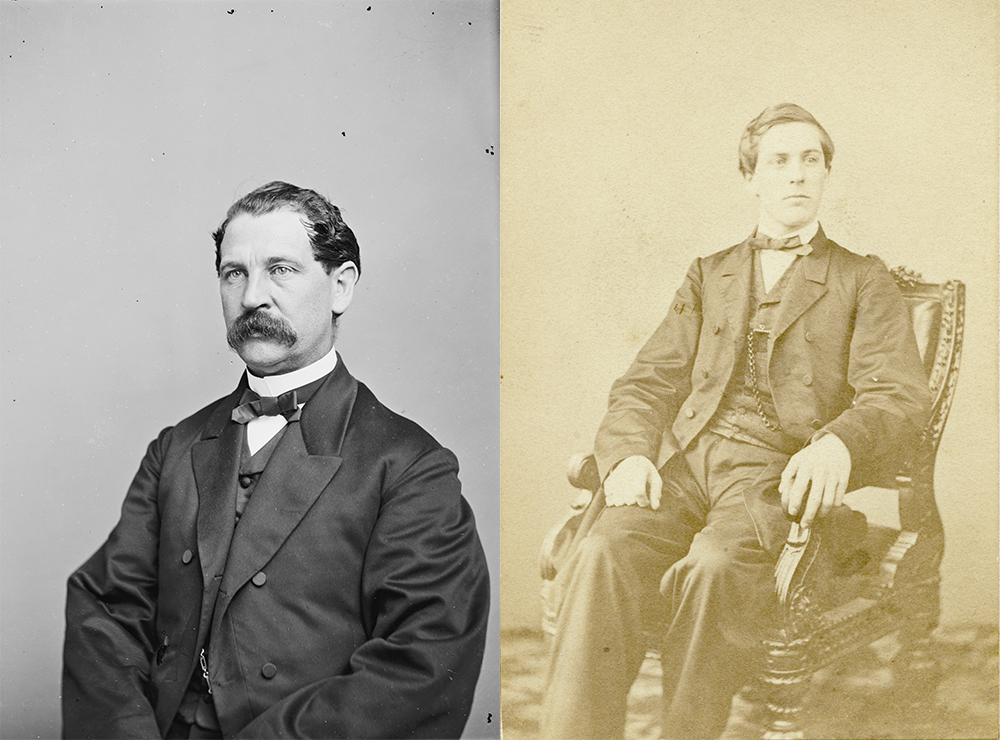 (L) Brigadier General Thomas Eckert, officer of the Federal Army, c. 1860–65. Photograph by Brady's National Photographic Portrait Galleries. Library of Congress, Prints and Photographs Division. (R) D.H. Bates, Photograph by Philp & Solomons. Library of Congress, Prints and Photographs Division.
