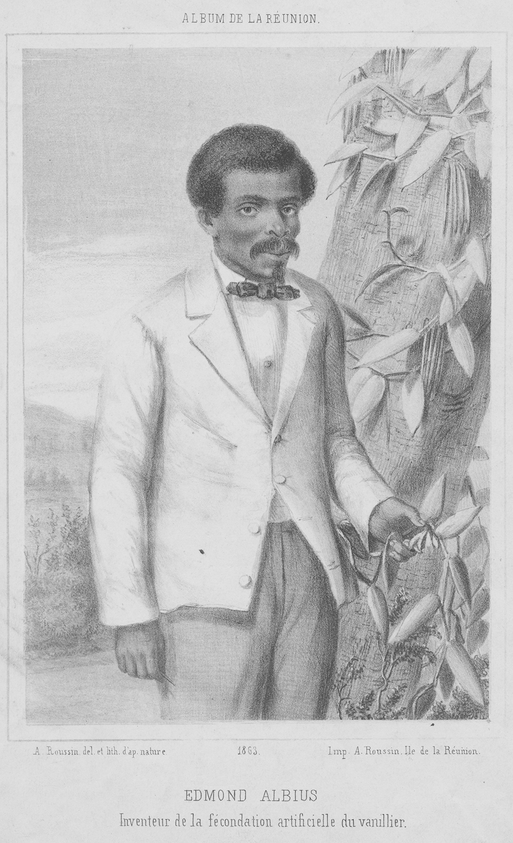 Edmond Albius, by Antoine Roussin, 1863. Schomburg Center for Research in Black Culture, Photographs and Prints Division, The New York Public Library Digital Collections.