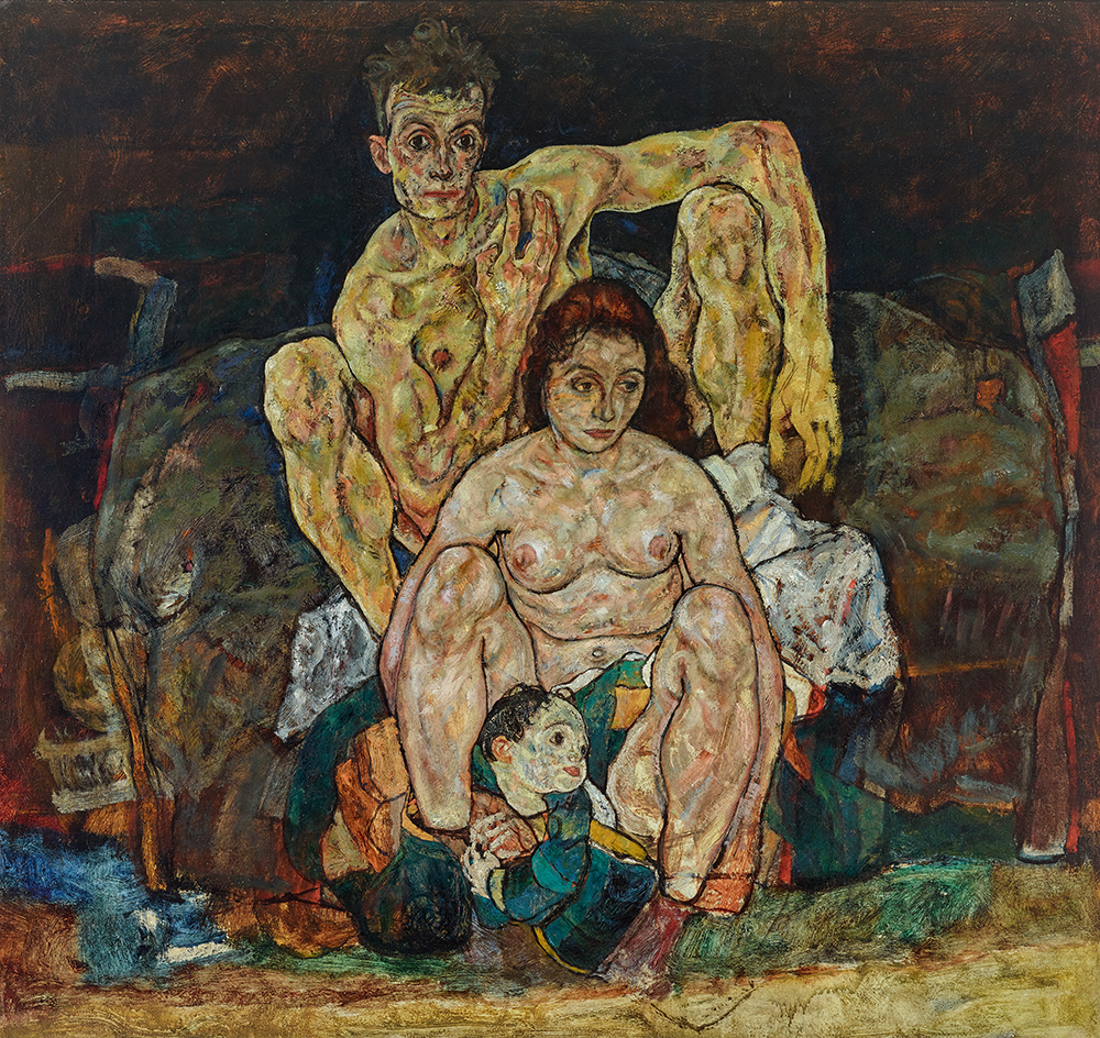 The Family (The Squatting Couple), by Egon Schiele, 1918.