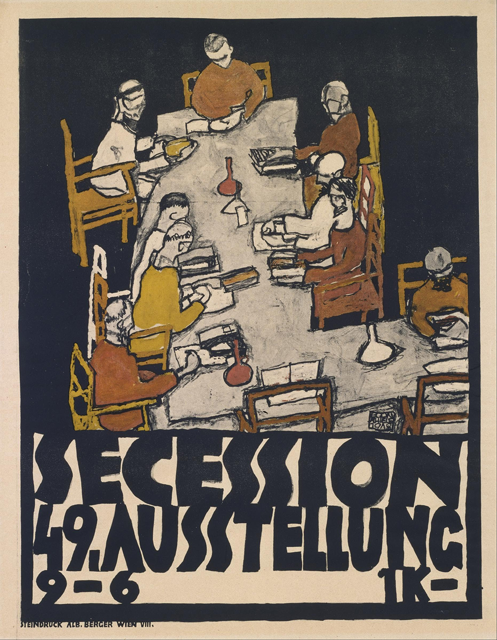 Poster for the 49th Exhibition of the Vienna Secession, by Egon Schiele, 1918.
