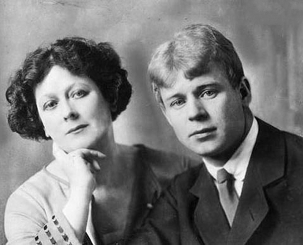Isadora Duncan and the Russian poet Sergei Yesenin, whom she married in 1922.
