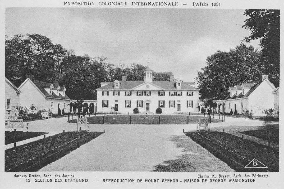 United States Building, Exposition Coloniale, Paris, France, 1931.