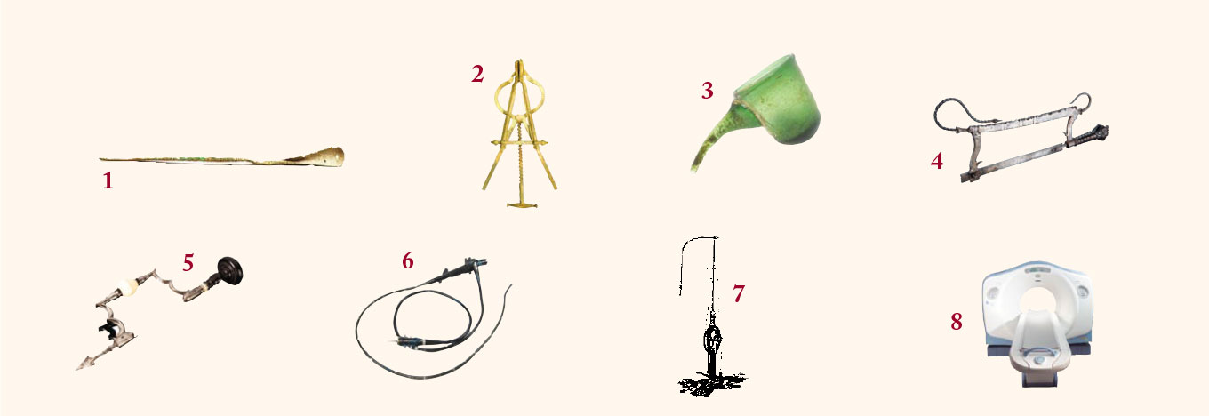 Images of the eight medical implements described below