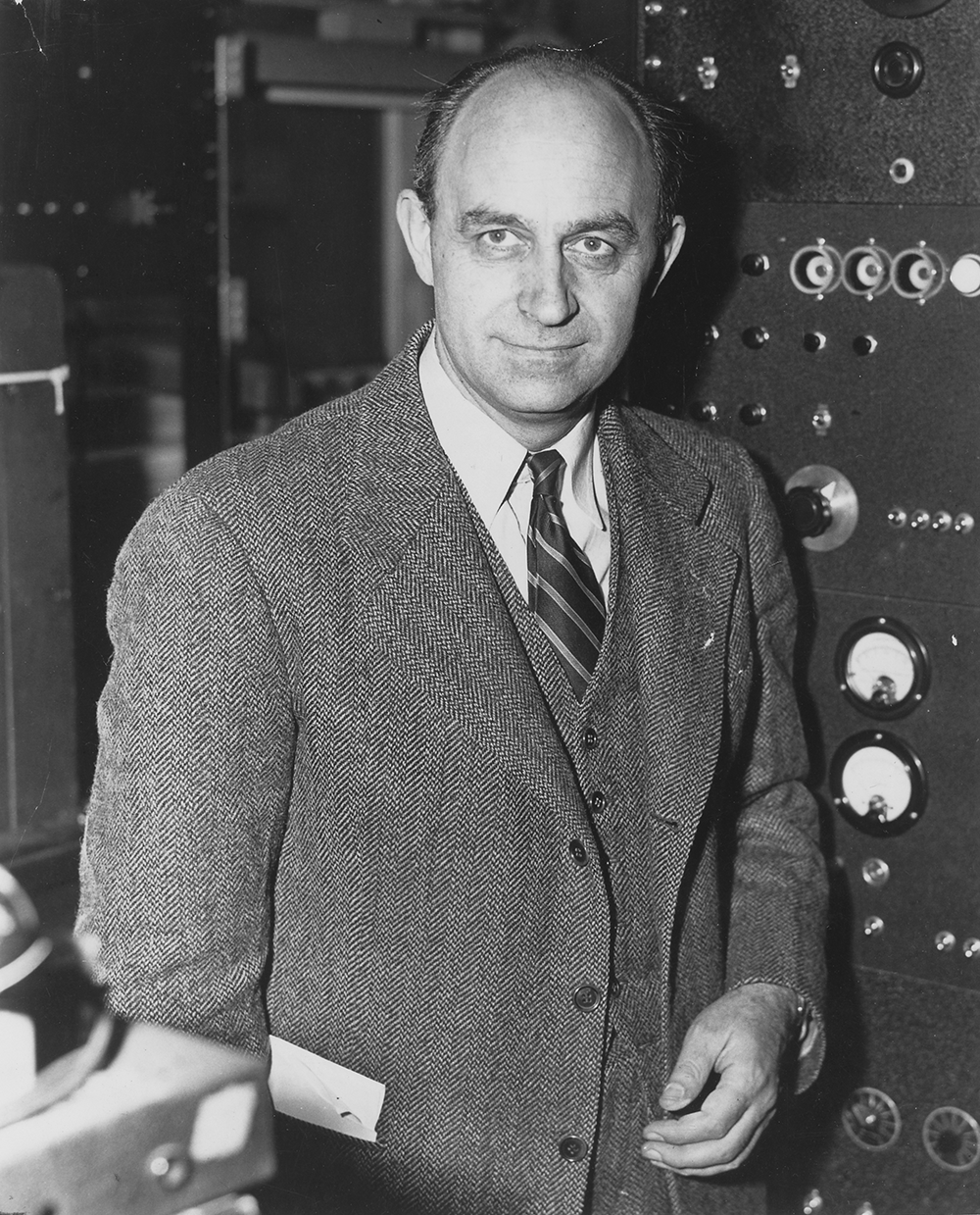 Enrico Fermi, c. 1946. National Archives, U.S. Department of Energy, Office of Public Affairs.