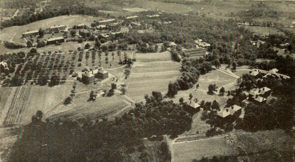 Aerial view of the Fernald School, c. 1930.