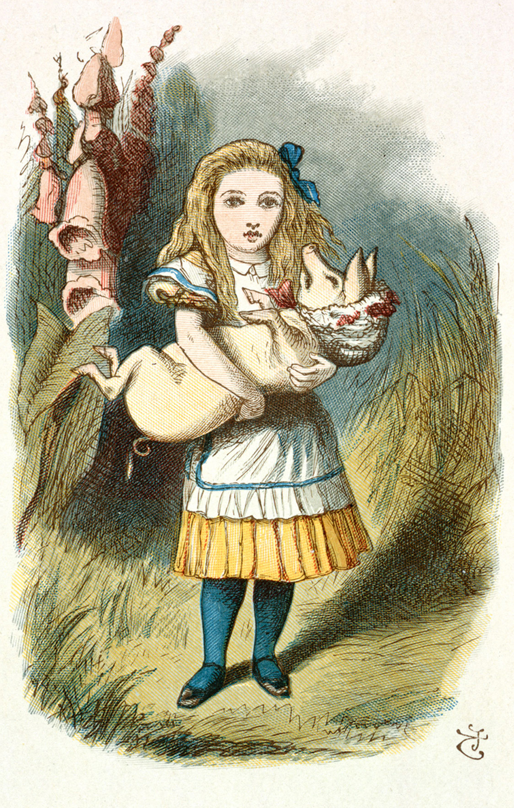 """From The Nursery """"Alice"""", by Lewis Carroll, 1890. Illustration by John Tenniel. British Library."""