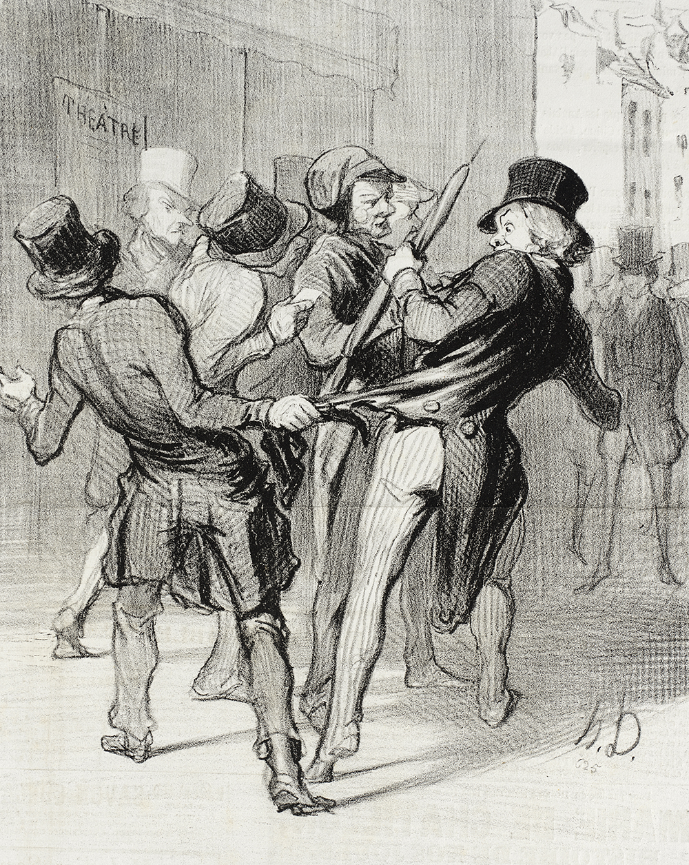 Ce qu'on appelle les séductions de Paris, by Honoré Daumier, 1844. Los Angeles County Museum of Art, Gift of Mrs. Florence Victor from The David and Florence Victor Collection.