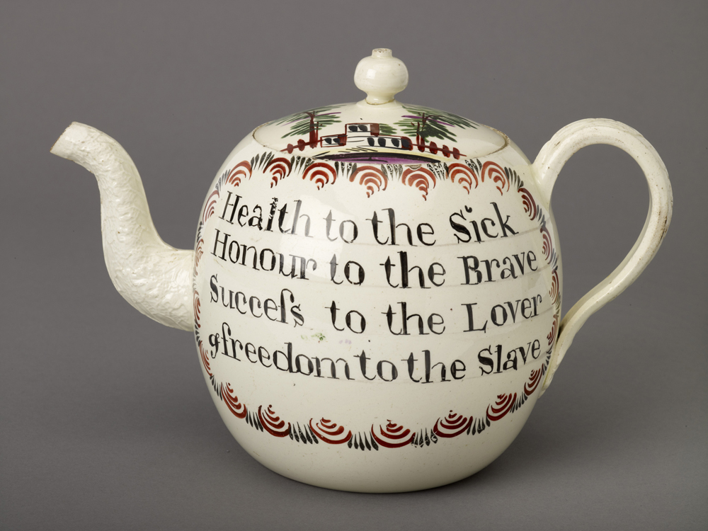 Abolition Teapot, by Josiah Wedgwood & Sons, c. 1760. Birmingham Museum and Art Gallery. Flickr (CC BY 2.0).