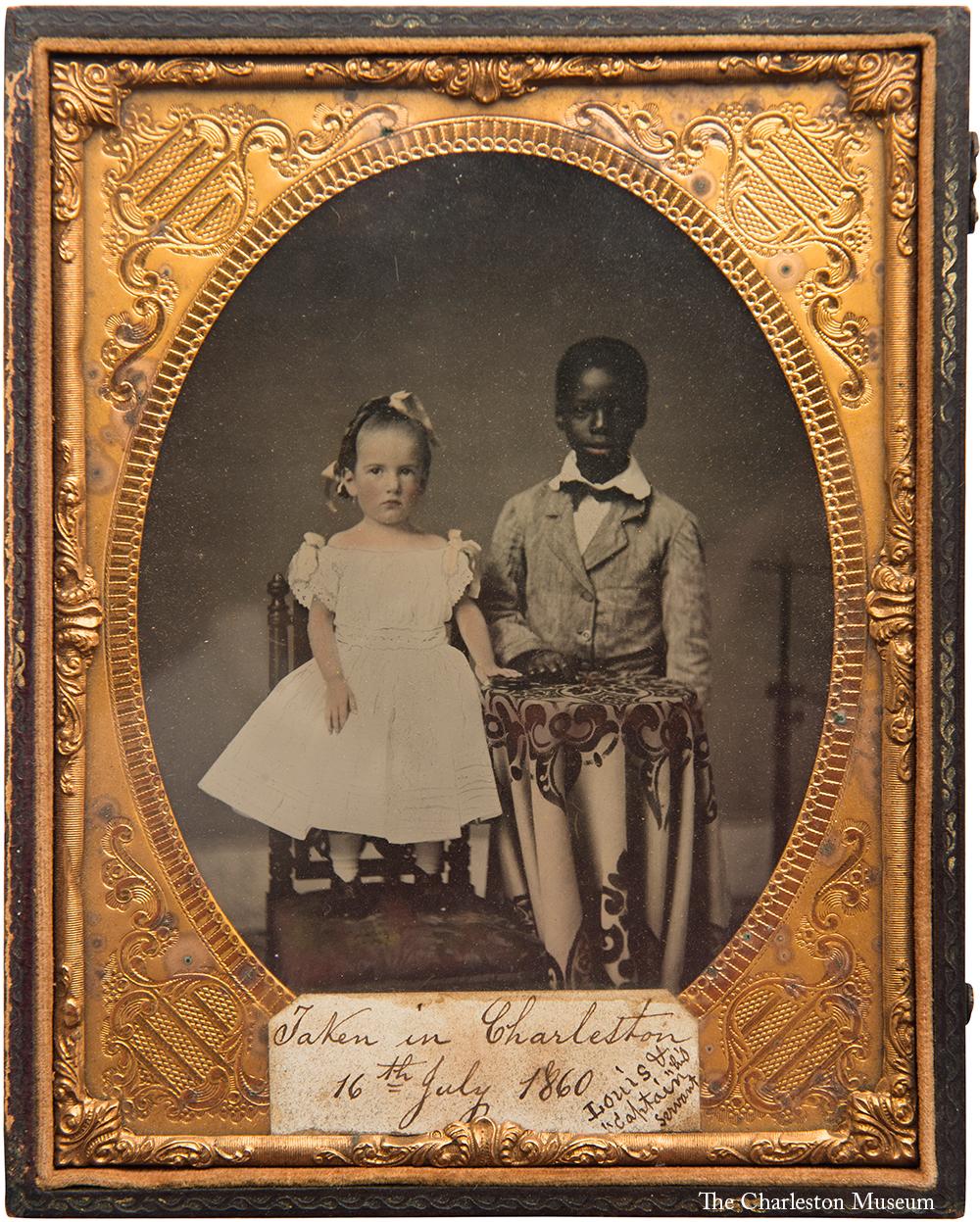 Louis Manigault & Captain, 1860, ambrotype, 4 x 6¾ inches. 1999.57.15. Courtesy of The Charleston Museum, Charleston, South Carolina, www. charlestonmuseum. org.