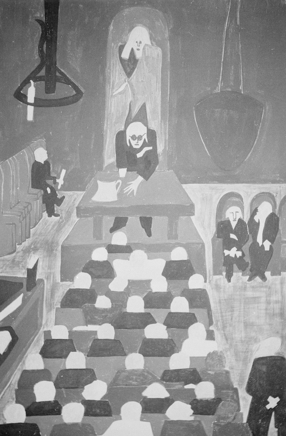 """""""Frederick Douglass Listened to William Lloyd Garrison Denounce Slavery,"""" by Jacob Lawrence. National Archives at College Park, Still Picture Records Section, Special Media Archives Services Division."""