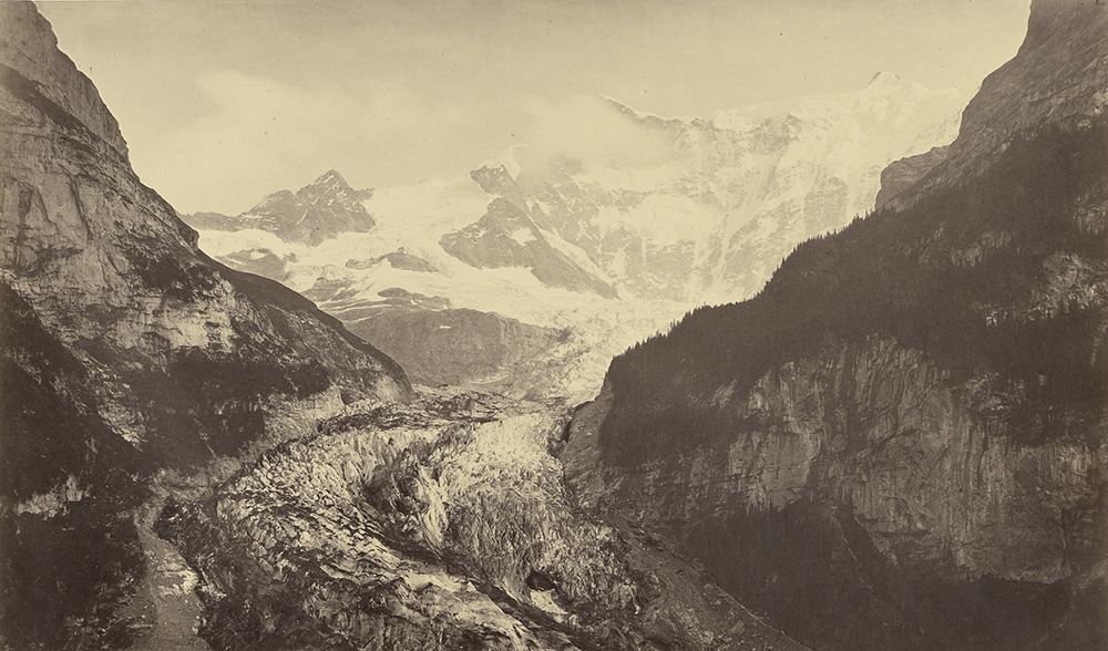 Grindelwald Glacier, c. 1860. Photograph by Bisson Frères. The J. Paul Getty Museum, Los Angeles. Digital image courtesy of the Getty's Open Content Program.