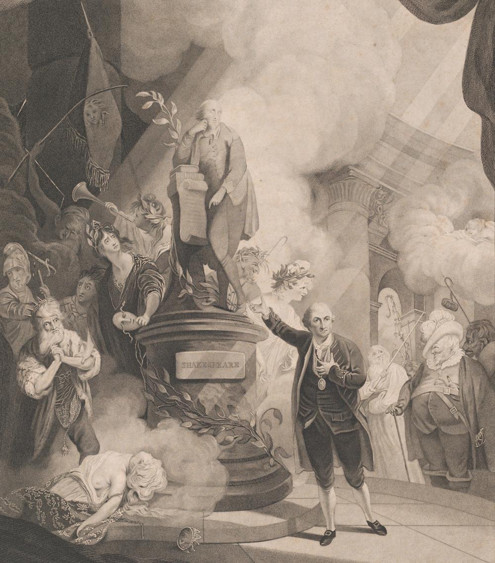 Garrick Speaking the Jubilee Ode, by Caroline Watson, 1769. The Metropolitan Museum of Art.