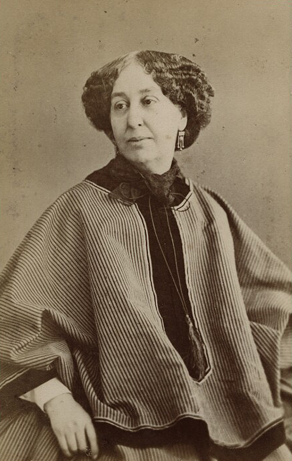George Sand, 1866. Photograph by Nadar. National Portrait Gallery.