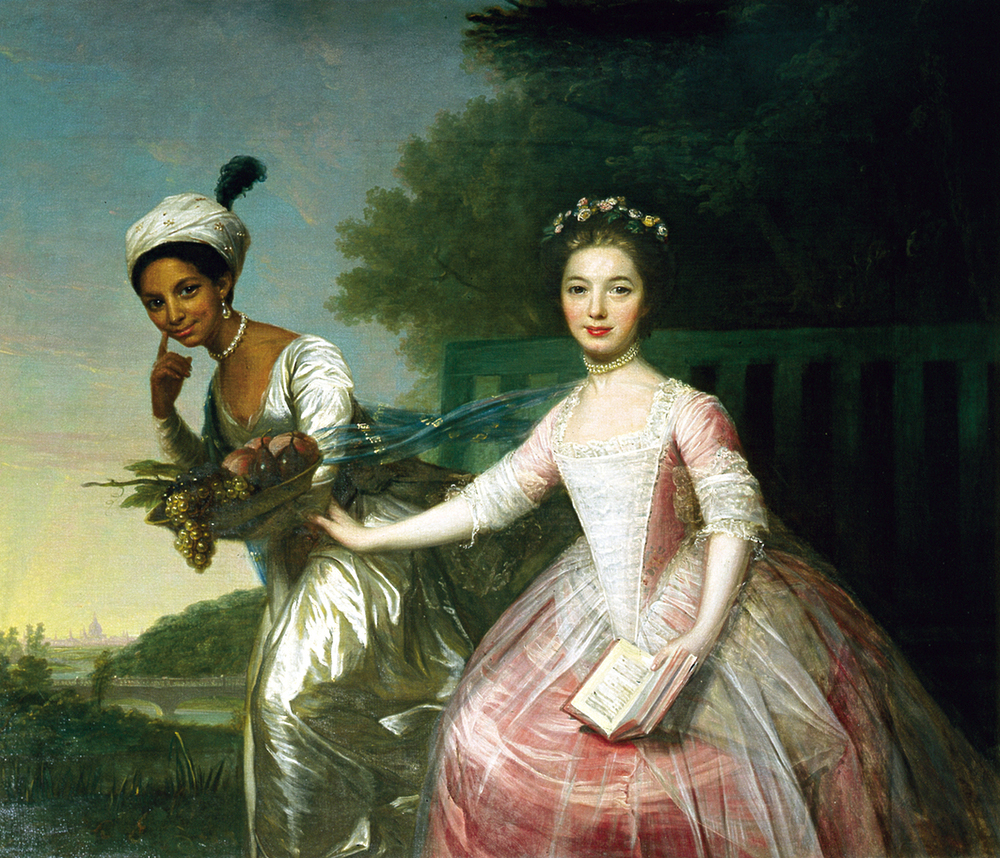 Portrait of Dido Elizabeth Belle Lindsay and her cousin Lady Elizabeth Murray, attributed to David Martin, c. 1778. Scone Palace, Scotland.