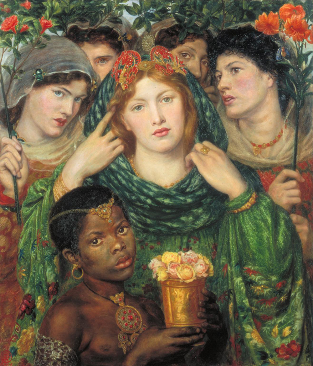 """The Beloved (""""The Bride""""), by Dante Gabriel Rossetti, c. 1865. Photograph © Tate (CC-BY-NC-ND 3.0)."""