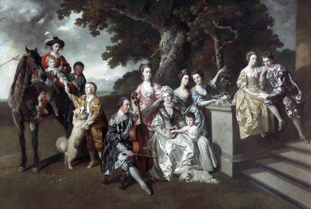 The Family of Sir William Young, by Johann Zoffany, c. 1767. Walker Art Gallery.