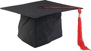 A mortar-board and tassel graduation cap.