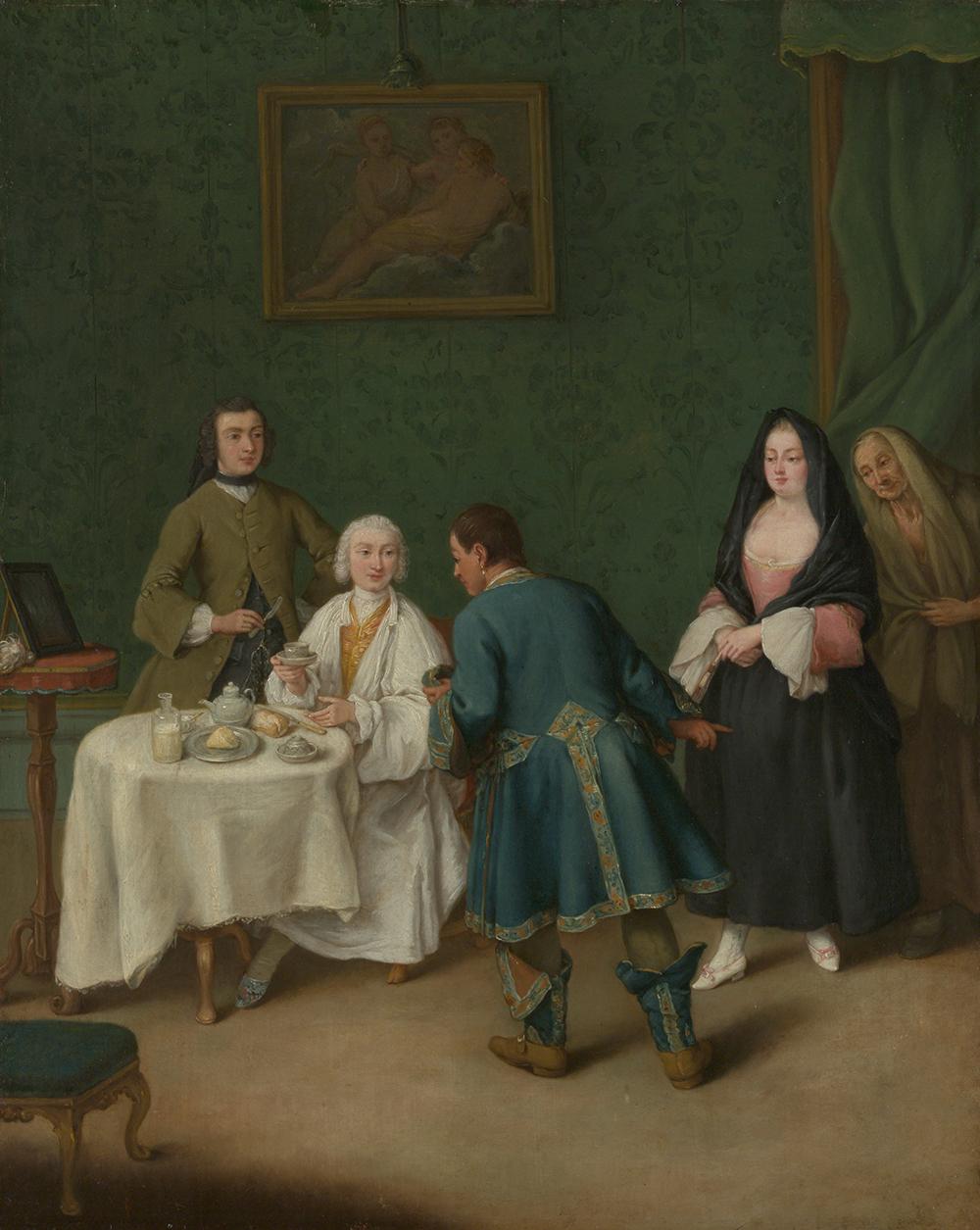 The Temptation, by Pietro Longhi, 1746. The Metropolitan Museum of Art, Gift of J. Pierpont Morgan, 1917.