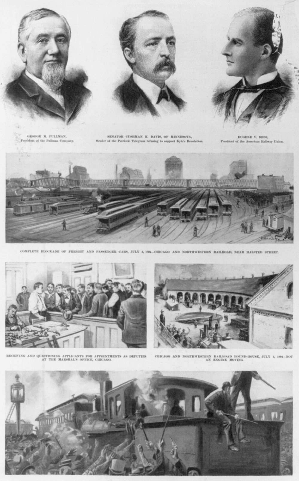 "Illustrations from ""The Great Railway Strikes,"" Harper's, 1894. Library of Congress, Prints and Photographs."