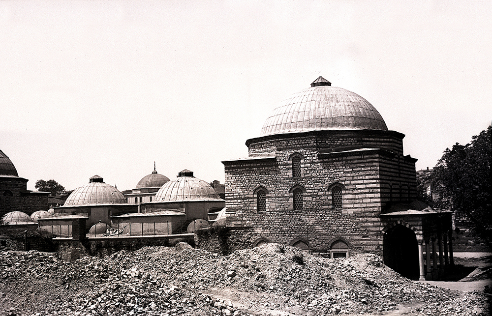 The Haseki Hürrem Sultan Hammam was commissioned by Roxelana and built in 1556. Restored in the 1950s, it reopened as a bathhouse in 2011 after a renovation begun in 2008. SALT Research, Ali Saim Ülgen Archive.