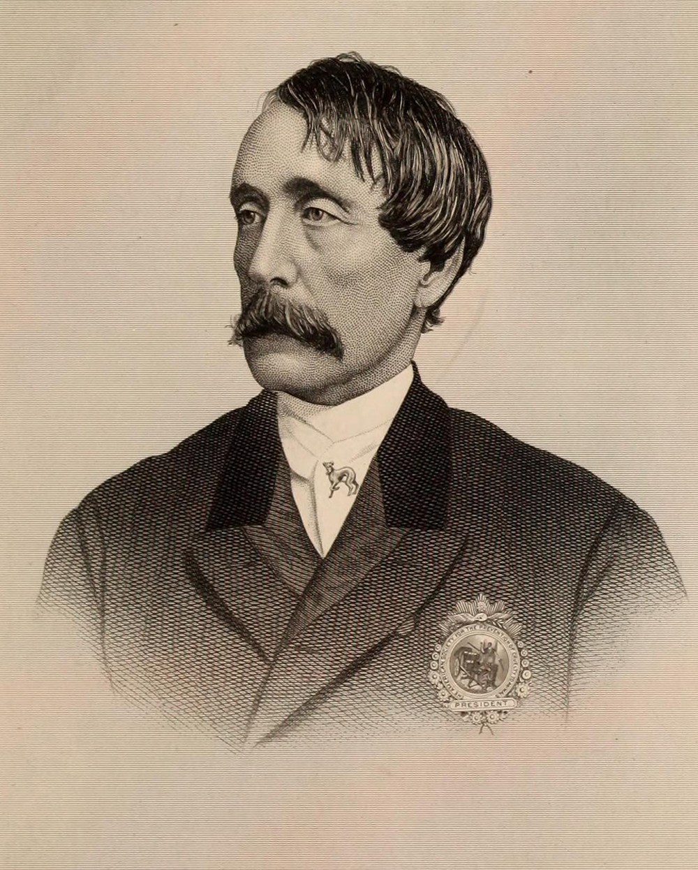 Illustration of Henry Bergh by George E. Perine, 1884.