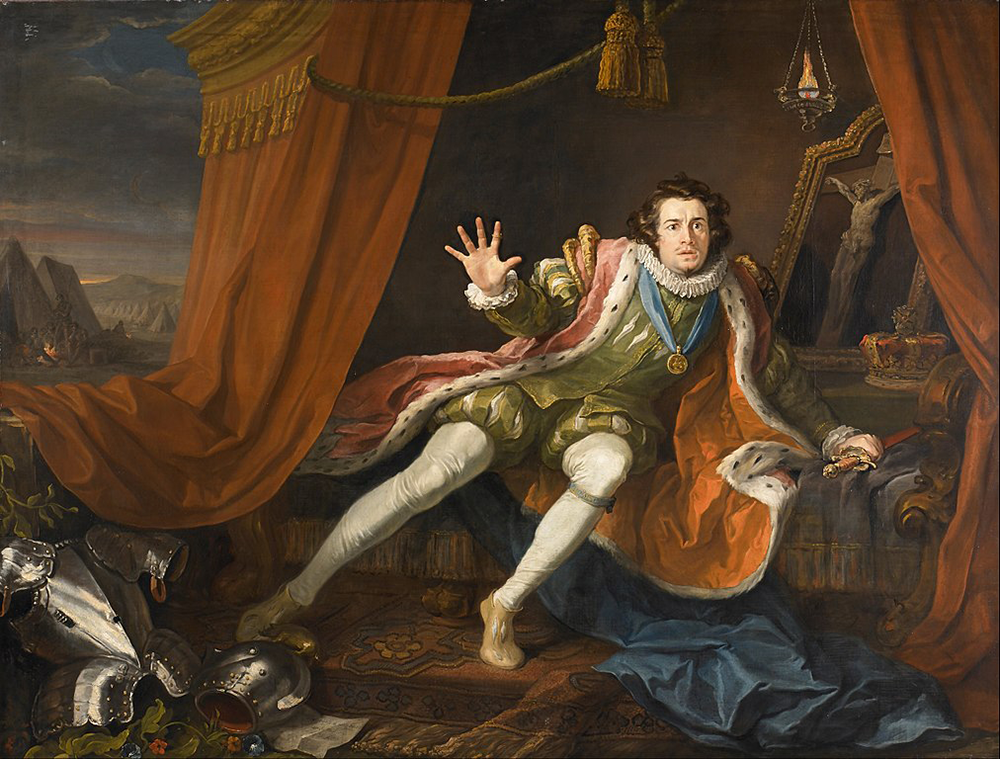 David Garrick as Richard III, by William Hogarth, c. 1745. Walker Art Gallery.