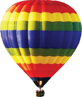 A photograph of a hot air balloon.