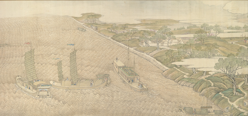 """The Qianlong Emperor's Southern Inspection Tour, Scroll Four: The Confluence of the Huai and Yellow Rivers,"" by Xu Yang, 1770. The Metropolitan Museum of Art, Purchase, The Dillon Fund Gift, 1984."