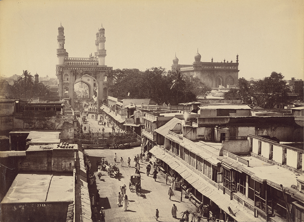 Photograph of Principal Street, Hyderabad, by Lala Deen Dayal, c. 1888. The J. Paul Getty Museum, Los Angeles. Digital image courtesy of the Getty's Open Content Program.