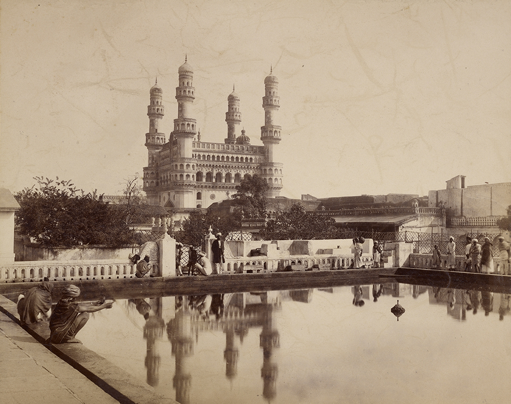 Photograph of the Charminar, Hyderabad, by Lala Deen Dayal, c. 1888. The J. Paul Getty Museum, Los Angeles. Digital image courtesy of the Getty's Open Content Program.