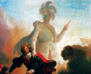 A painting of Il Commendatore