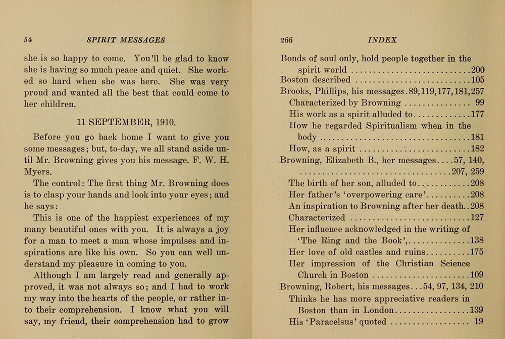 Spirit Messages, by Hiram Corson, 1911. HathiTrust Digital Library, original from the Library of Congress.
