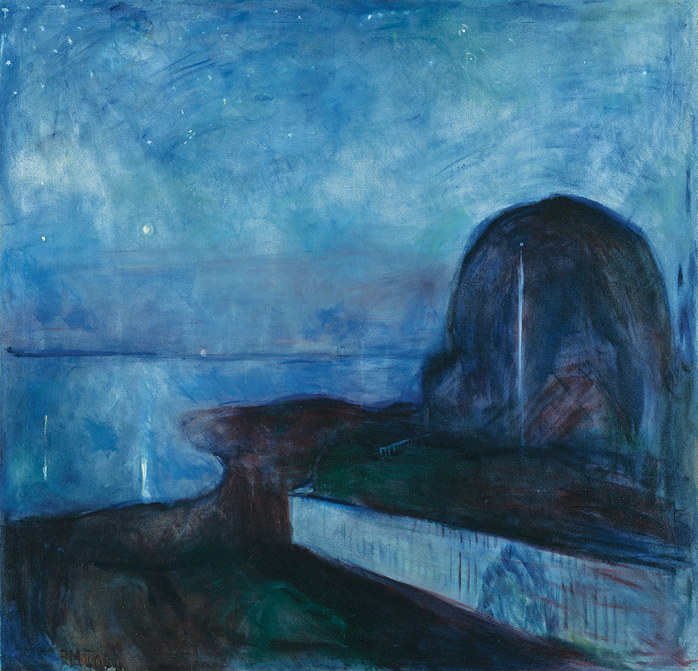 Starry Night, by Edvard Munch, 1893.