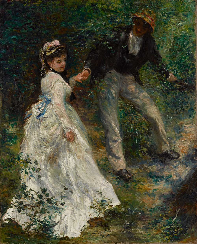 La Promenade, by Pierre-Auguste Renoir, 1870.