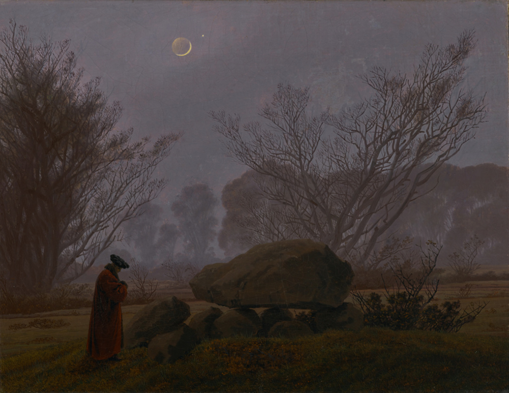 A Walk at Dusk, by Caspar David Friedrich, c. 1830. © The J. Paul Getty Museum, digital image courtesy of the Getty's Open Content Program.