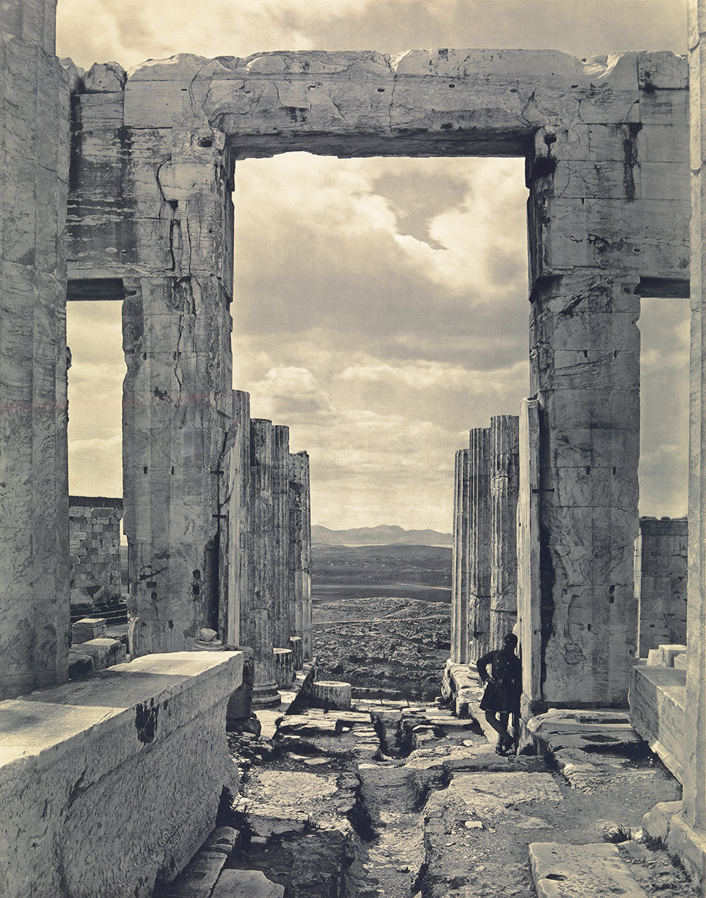 Propylaea to the Acropolis, Athens, c. 1890. Photograph by Braun, Clément & Cie.