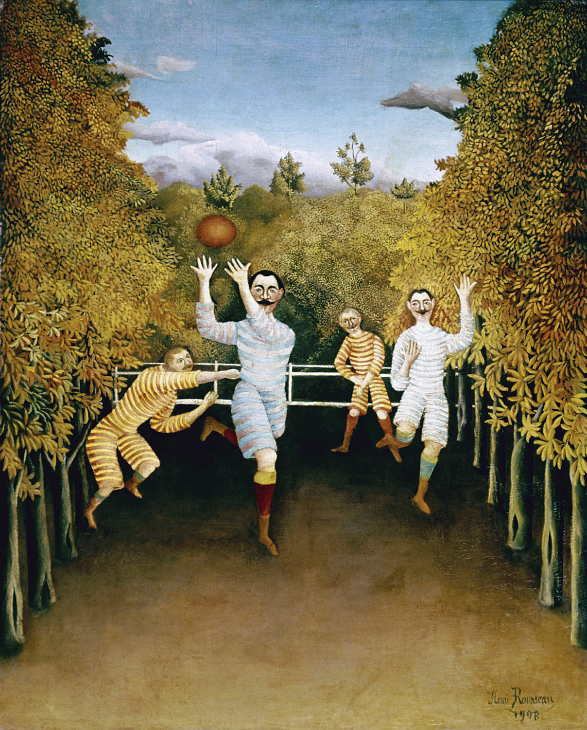 The Football Players, by Henri Rousseau, 1908. Solomon R. Guggenheim Museum, New York, New York.