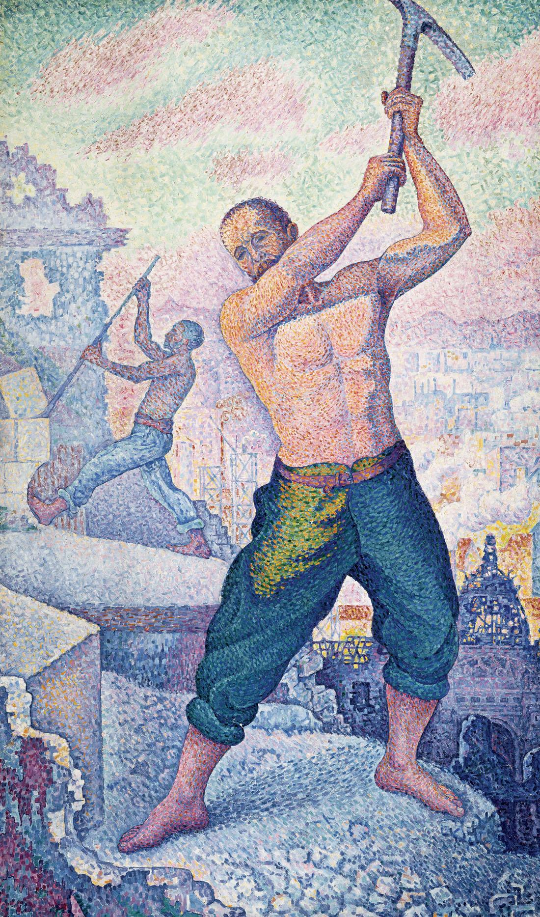 The Demolition Worker, by Paul Signac, c. 1897. Musée des Beaux-Arts de Nancy, France.