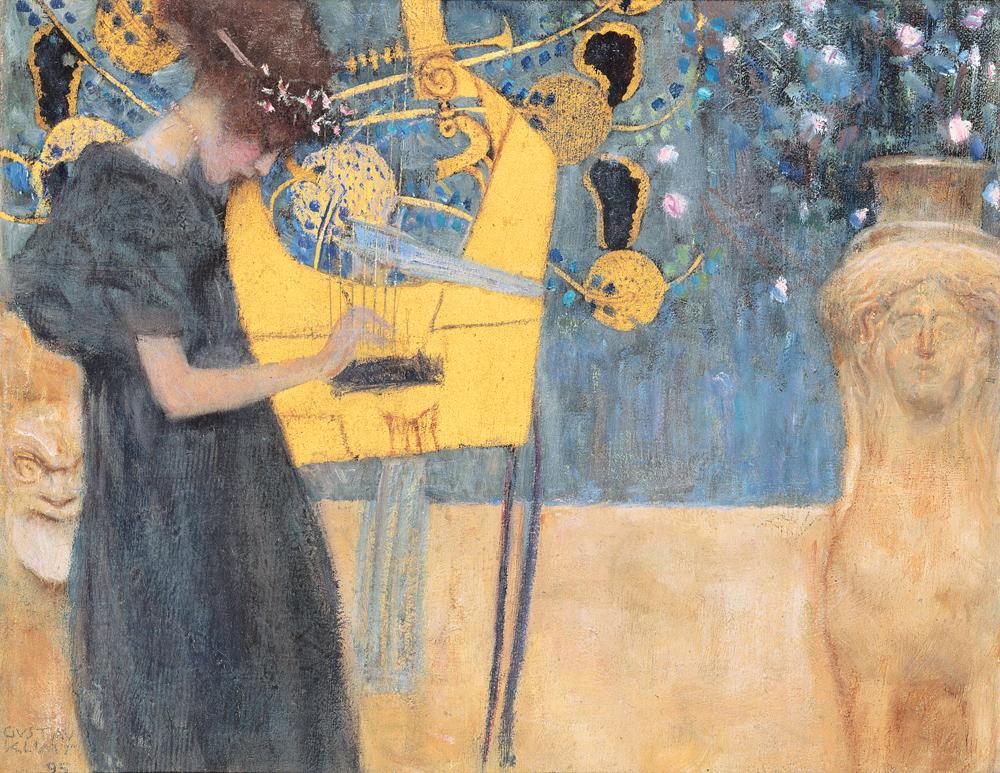 Music (I), by Gustav Klimt, 1895. Neue Pinakothek, Munich, Germany.