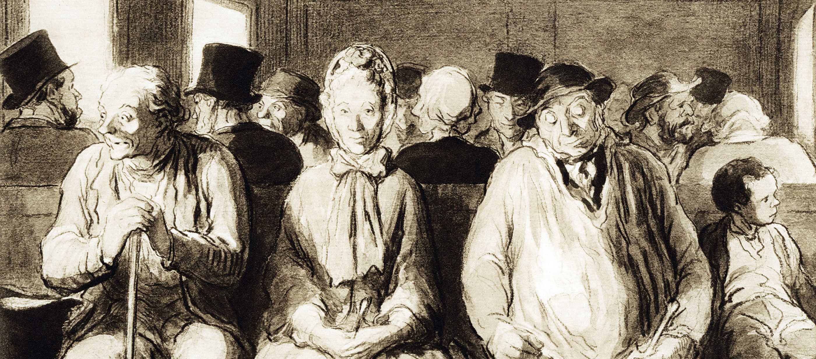 The Third Class Carriage, by Honoré Daumier, c. 1862.