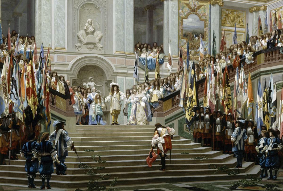 Reception of the Grand Count by Louis XIV, by Jean-Léon Gérôme, 1878. Musée d'Orsay, Paris.