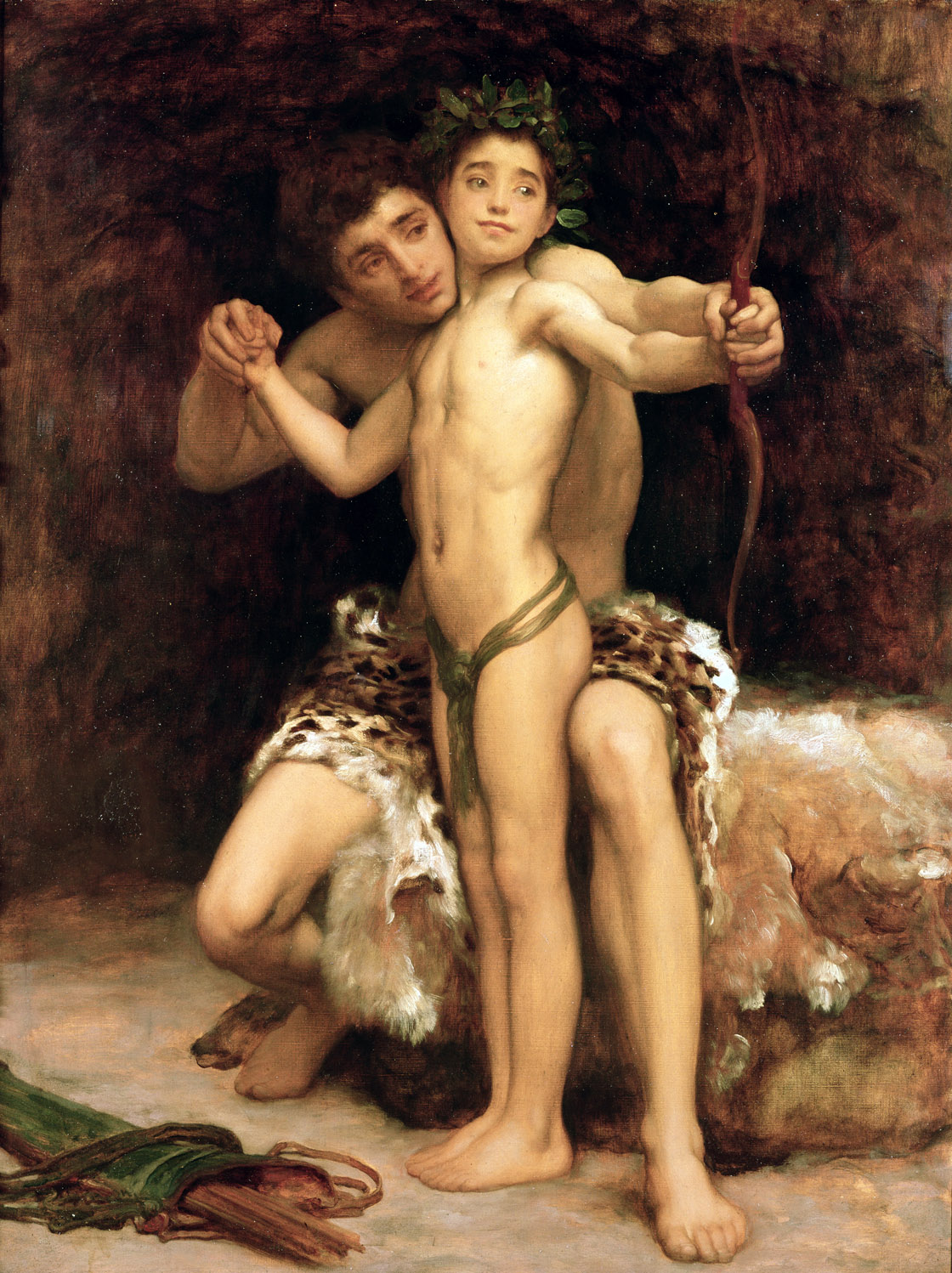 The Hit, by Frederic Leighton, c. 1890.
