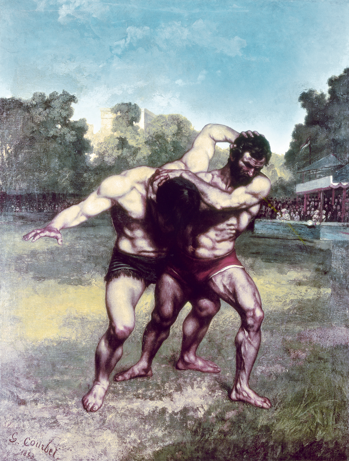 The Wrestlers, by Gustave Courbet, 1853. Museum of Fine Arts, Budapest.
