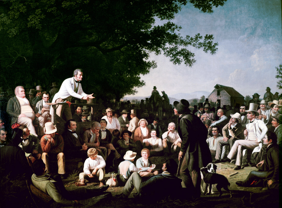 Stump Speaking, by George Caleb Bingham, c. 1853.