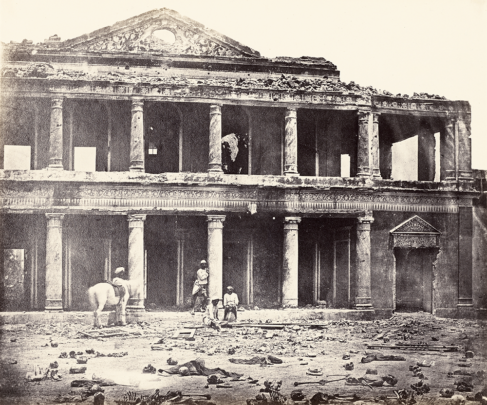 Interior of Secundra Bagh, After the Slaughter of 2,000 Rebels by the 93rd Highlanders and 4th Punjab Regiment. First Attack of Sir Colin Campbell in November 1857, Lucknow, by Felice Beato, 1858. © The J. Paul Getty Museum, Los Angeles; digital image cou