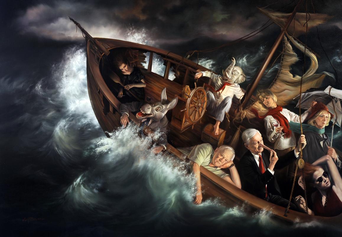 Ship of Fools, by David Michael Bowers, 2014. Courtesy the artist and Palm Avenue Fine Art, Sarasota, Florida.