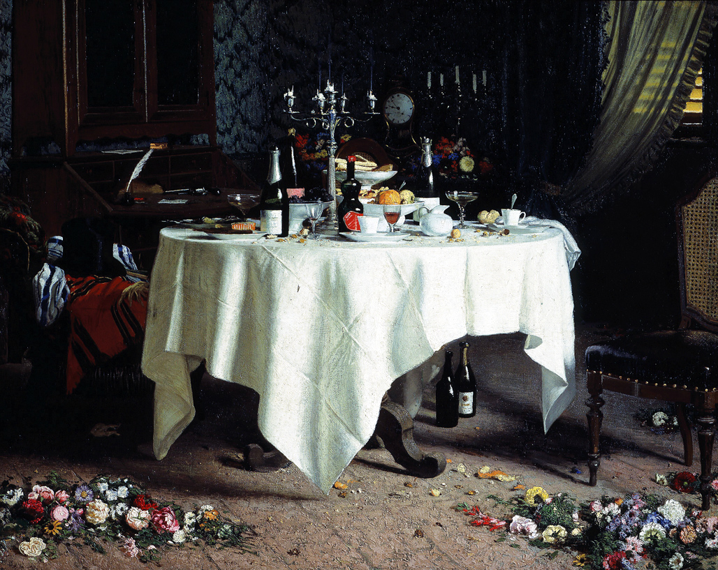 Remains of a Banquet, by Angelo Morbelli, 1884. Galleria d'Arte Moderna, Turin, Italy.