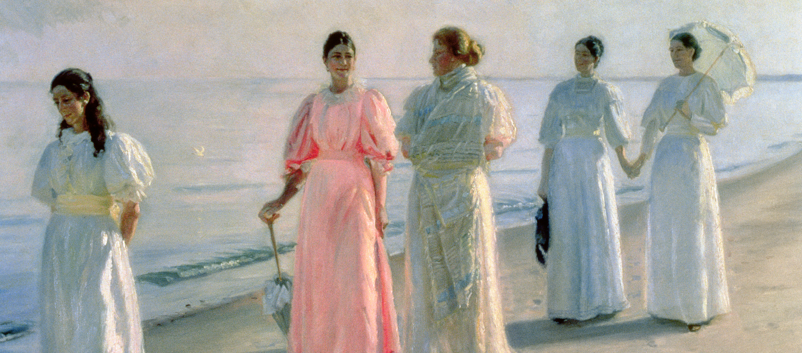 Promenade on the Beach, by Michael Ancher, c. 1896.