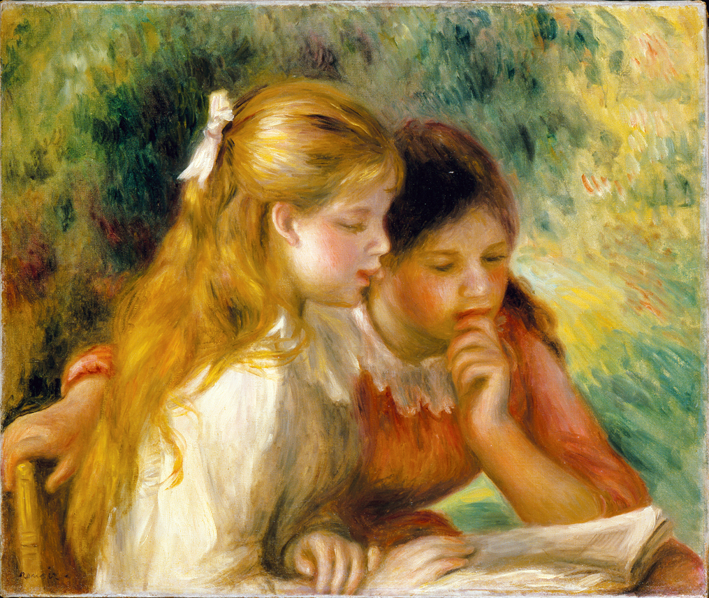 Reading, by Pierre-Auguste Renoir, c. 1890–1895. Louvre Museum, Paris, France.